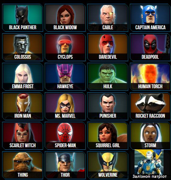 Супергерои и суперзлодеи список с фото выполнить работу